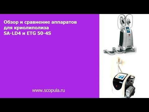 Обзор и сравнение аппаратов для криолиполиза SA-LD4 и ETG 50-4S | Scopula.ru