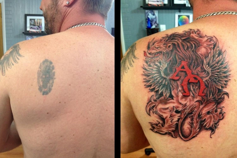 новое тату после удаления лазером
