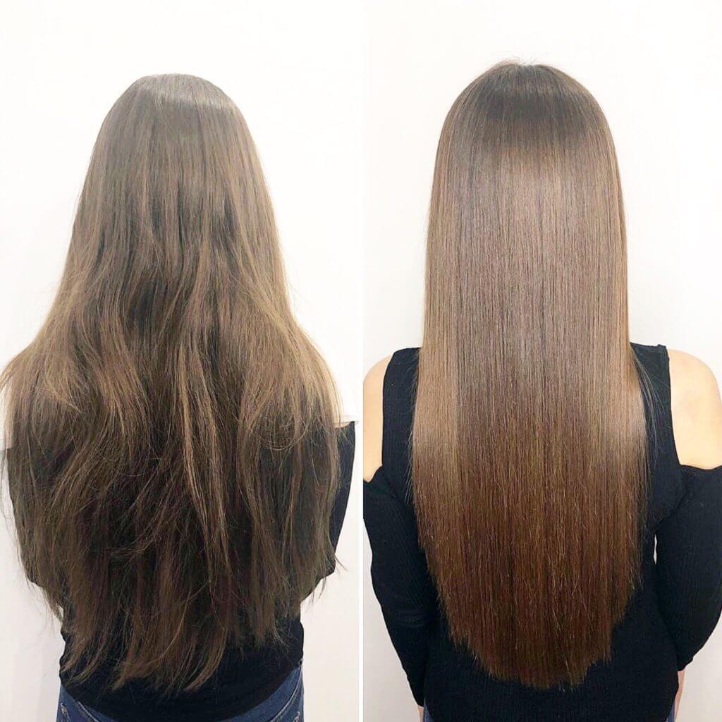 Филеры для волос до и после