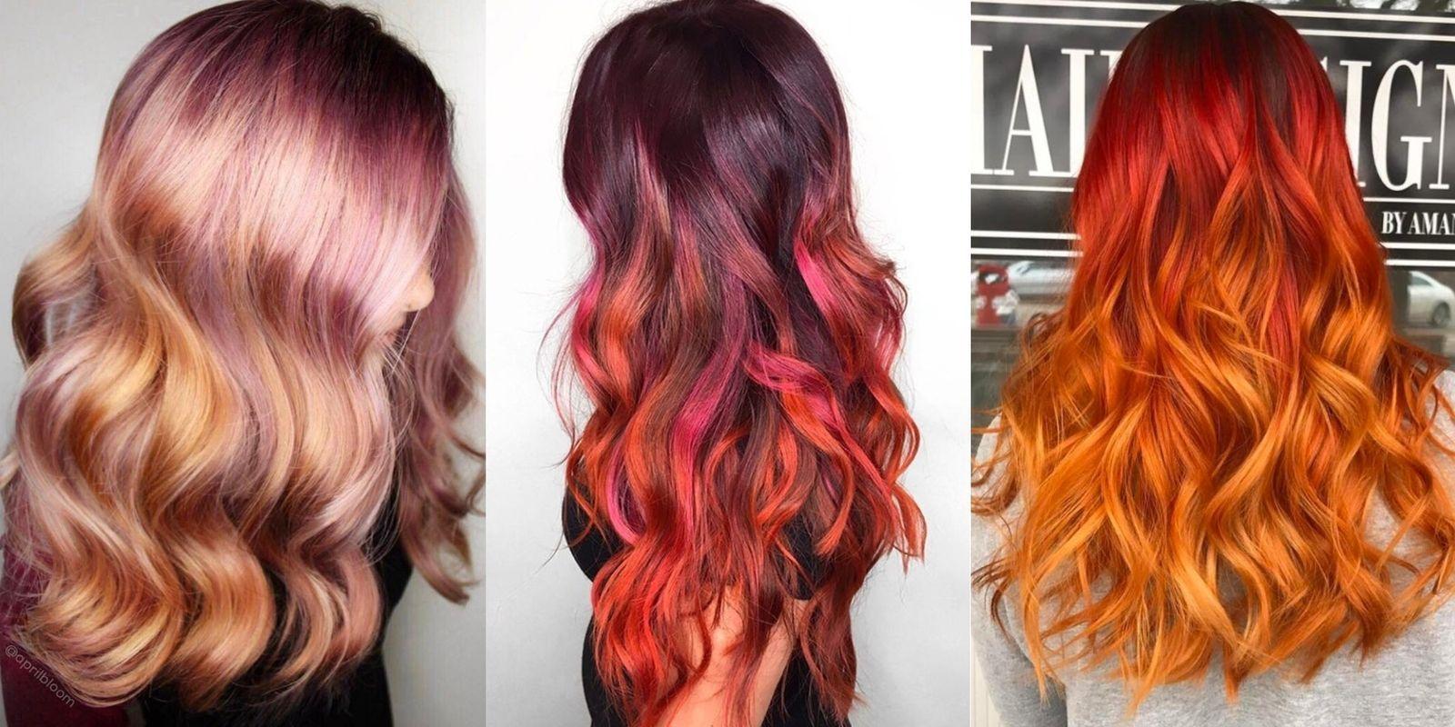 2021 г. модные тенденции в окрашивании средних и длинных рыжих волос