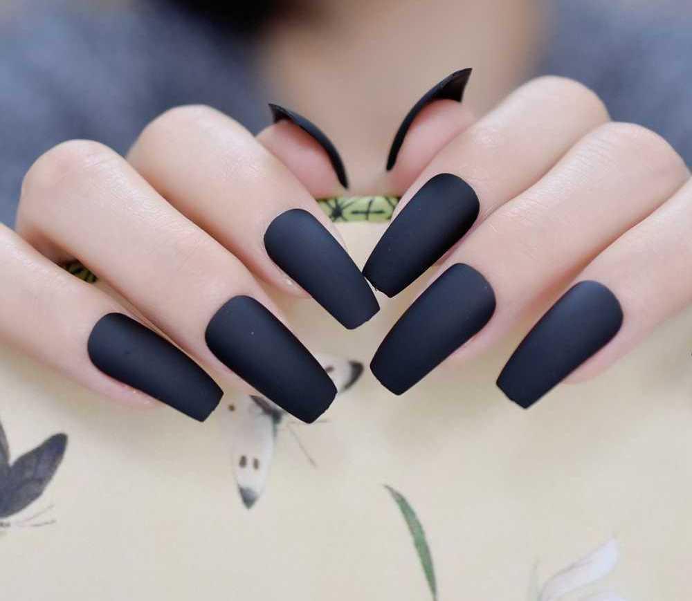 Маникюр на квадратные ногти