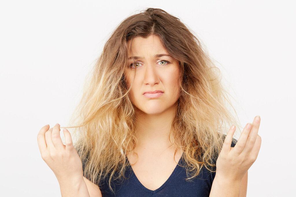 Выгорание волос